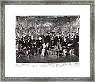 Patriotic Irish-american Print Ca. 1875 Framed Print by Everett