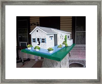 Pat's Cottage Birdhouse Framed Print by Gordon Wendling