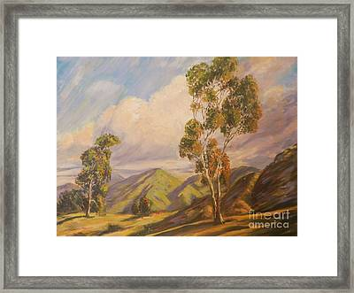 Paul Grimm California Impressionism Framed Print by Sunanda Chatterjee