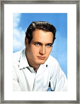 Paul Newman, Portrait Ca. 1950s Framed Print by Everett