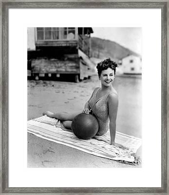 Paulette Goddard, 1943 Framed Print by Everett