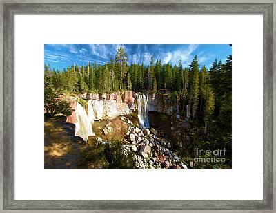 Paulina Falls At Newberry Framed Print by Adam Jewell