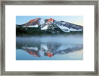 Paulina Lake Reflections Framed Print by Adam Jewell