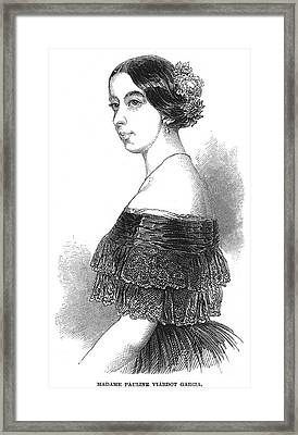 Pauline Viardot-garcia Framed Print by Granger