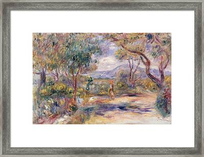 Paysage A Cannes  Framed Print by Pierre Auguste Renoir