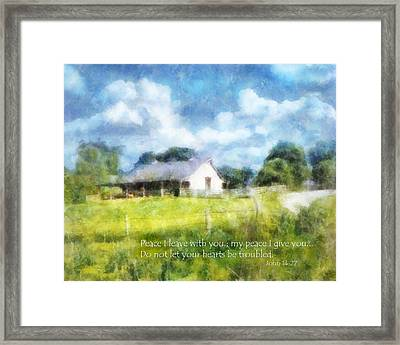Peace Be With You Framed Print by Francesa Miller