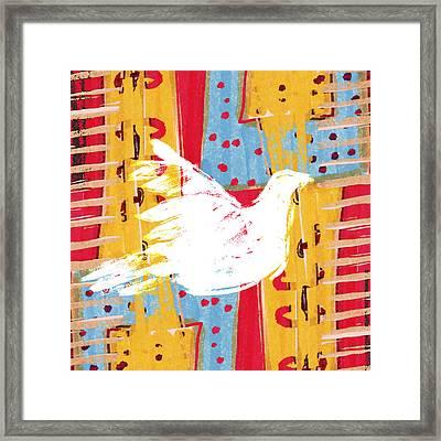 Peace Dove 2 Framed Print by Carol Leigh