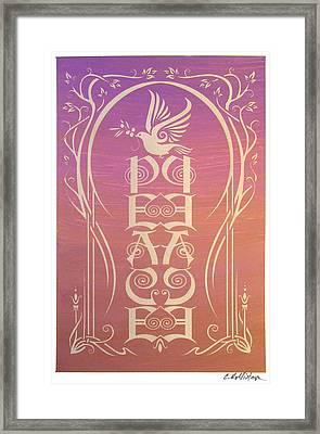 Peace Reflectograph Framed Print by Cristina McAllister