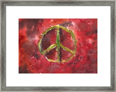 Peace Sign 61-12 Framed Print by Sean Seal