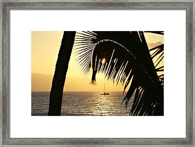 Peaceful Evenings Framed Print by Marilyn Hunt