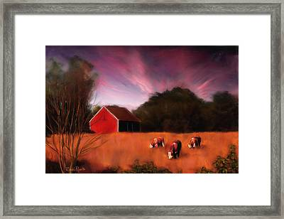 Peaceful Pasture Framed Print by Suni Roveto