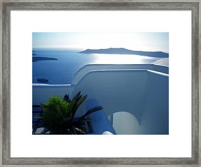 Peaceful Sunset Santorini Framed Print by Colette V Hera  Guggenheim
