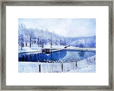 Peaceful Winters Day Framed Print by Darren Fisher