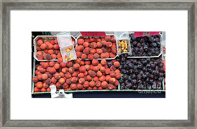 Peaches And Plums - 5d17913 Framed Print by Wingsdomain Art and Photography