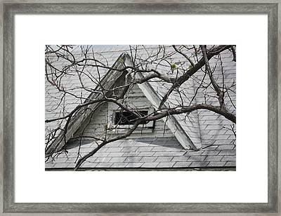 Peak Framed Print by Donna G Smith