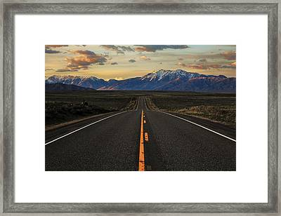 Peaks To Craters Highway Framed Print by Benjamin Yeager