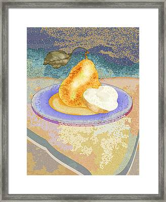 Pear Framed Print by Mary Ogle