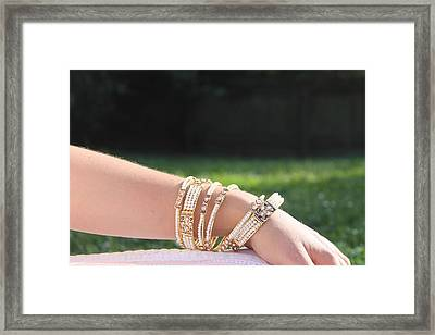 Pearl Of India Bangles Framed Print by Courtney Hancock