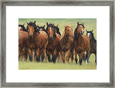 Pecking Order Framed Print by JQ Licensing