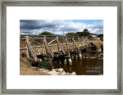 Pedestrian Bridge At Point Isabel In Richmond California . 7d15083 Framed Print by Wingsdomain Art and Photography