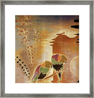 Peering And Peeking Birds  Framed Print by Anne-Elizabeth Whiteway