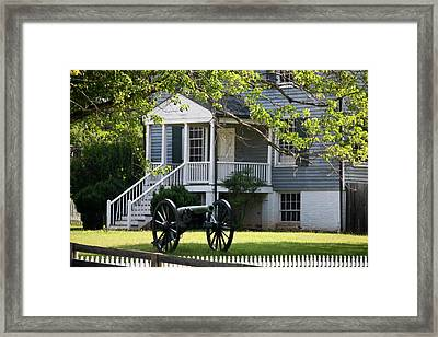 Peers House And Cannon Appomattox Court House Virginia Framed Print by Teresa Mucha