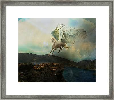 Pegasus Flying Horse Framed Print by Patricia Ridlon