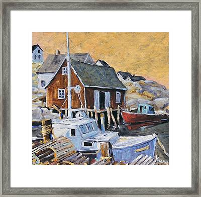 Peggy S Cove 01 By Prankearts Framed Print by Richard T Pranke
