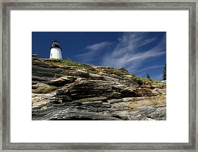 Pemaquid Point Lighthouse Framed Print by Rick Berk