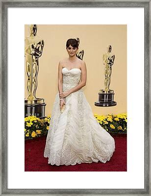 Penelope Cruz Wearing A Vintage Balmain Framed Print by Everett