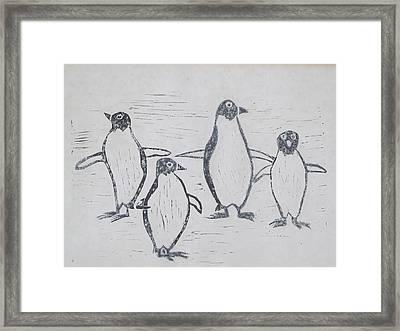 Penguins Framed Print by Tina M Wenger