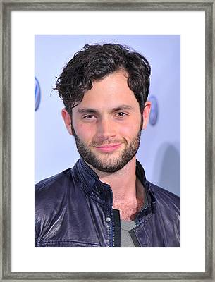 Penn Badgley At Arrivals For Volkswagen Framed Print by Everett