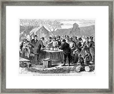Pennsylvania: Voting, 1872 Framed Print by Granger