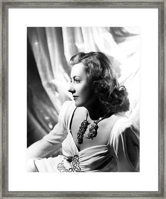 Penny Serenade, Irene Dunne, 1941 Framed Print by Everett