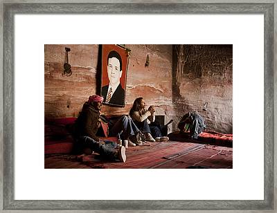 People Hide In A Cave Framed Print by Taylor S. Kennedy