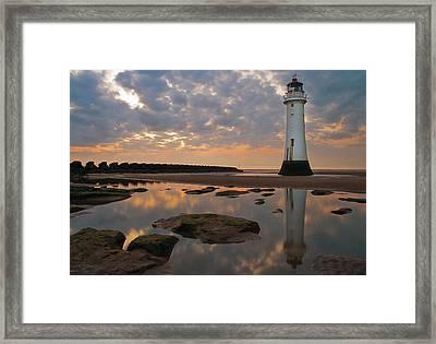 Perch Rock Lighthouse Framed Print by Wayne Molyneux