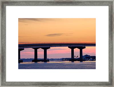 Perdido Bridge Sunrise Closeup Framed Print by Michael Thomas
