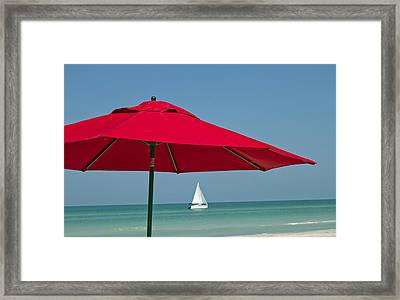 Perfect Beach Day Framed Print by Elvira Butler