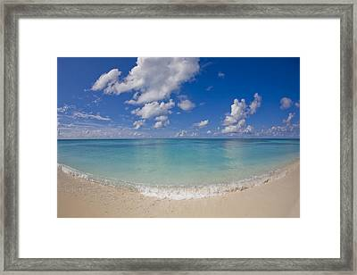 Perfect Beach Day With Blue Skies Framed Print by Mike Theiss