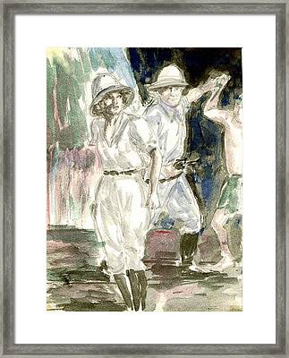 Perils Of Pauline Framed Print by Mel Thompson