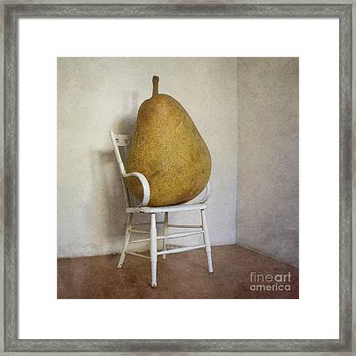 Perry Was Just Thankful Not To Have Her Mothers Piano Legs Framed Print by Paul Grand