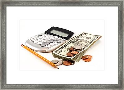 Personal Finance And Accounting Framed Print by Blink Images