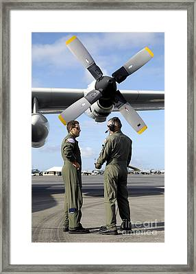 Personnel Conduct A Pre-flight Briefing Framed Print by Stocktrek Images