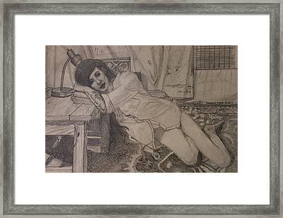 Persuading Framed Print by Shadrach Ensor