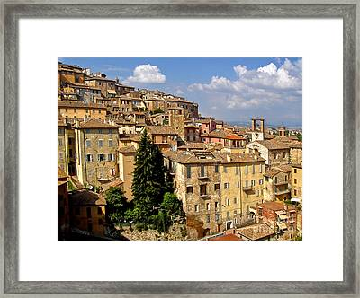 Perugia Italy - 01 Framed Print by Gregory Dyer