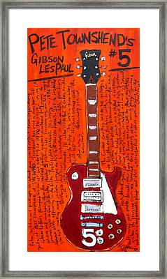 Pete Townshend's Les Paul 5 Framed Print by Karl Haglund