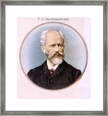 Peter Ilyich Tchaikovsky 1840-1893 Framed Print by Everett