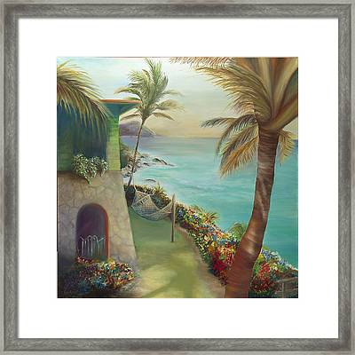 Peter Island Escape Framed Print by Lisa Kruse