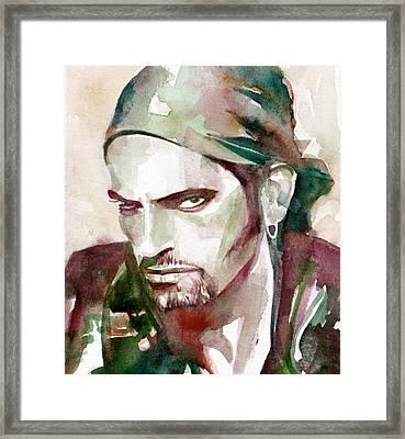 Peter Steele Portrait.6 Framed Print by Fabrizio Cassetta