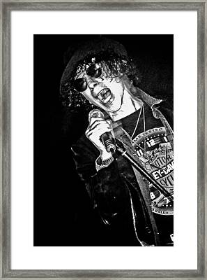 Peter Wolf Framed Print by Mike Martin